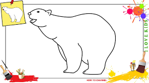how to draw a polar bear easy u0026 slowly step by step for kids and
