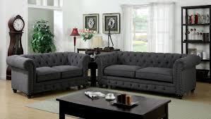 3 piece sofa set 3 piece stanford gray fabric sofa set foa 6269sf usa furniture
