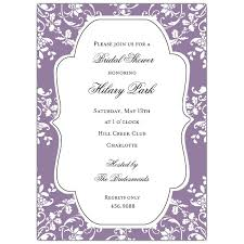 Make Your Own Bridal Shower Invitations Bridal Shower Invitations Purple Vertabox Com