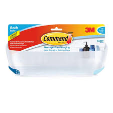 command 7 5 lbs shower caddy with water resistant bath11 es