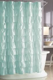 Teal Colored Shower Curtains Blue Shower Curtain Trend
