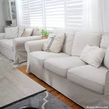 Sofa Covers White by Restyle Relove My New Ikea Ektorp Sofa Covers In Lofallet Beige