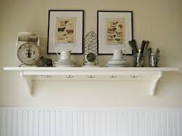 kitchen 18 cozy kitchen wall shelving ideas with white wall