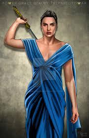dress gal gal gadot blue dress by hamletroman on deviantart