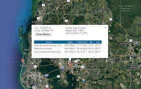 Tampa Bay Map What Time Is The Eclipse Near Me Nasa U0027s Interactive Solar Eclipse