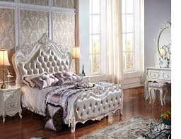 Luxury Bed Frame Royal Luxury European Leather Bed Frame Solid Wood And Mdf Wooden