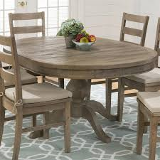 Pine Dining Room Sets Jofran 941 66 Slater Mill Pine Reclaimed Pine Round To Oval Dining