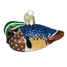 amazon com old world christmas wood duck glass blown ornament