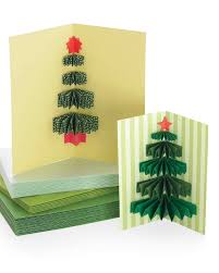 3 d christmas tree card tutorial u0026 video martha stewart