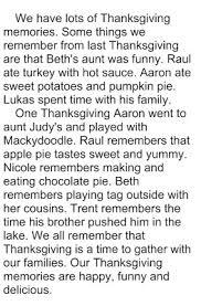 crain s thanksgiving descriptive paragraph