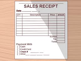 uk rent receipt template how to write a receipt 9 steps with pictures wikihow