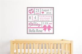 baby girl birth announcement vinyl decal wall stickers nursery baby girl birth announcement vinyl decal wall stickers nursery decor gift