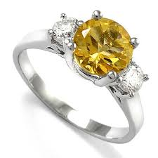 citrine engagement rings anzor jewelry 14k white gold citrine diamond engagement ring br