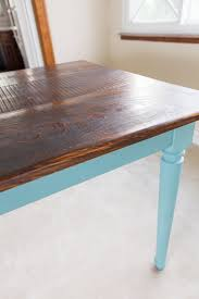 Diy Kitchen Table Top by Provence Blue Farm Dining Table Rustic Kitchen Table Solid Pine