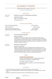 Barista Sample Resume by Technical Support Specialist Resume Samples Visualcv Resume
