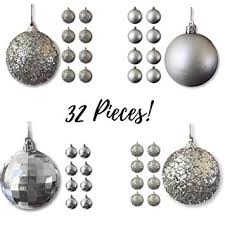 ornaments silver ornaments pack