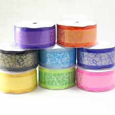 paper ribbons maple craft 2 organza sheer edged ribbon with paper heart