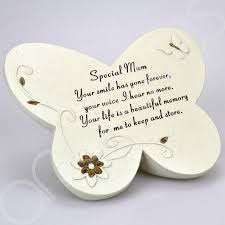 butterfly message graveside memorial plaque ornament