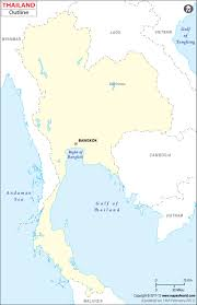 Blank Map Of Europe And Asia by Blank Map Of Thailand Thailand Outline Map