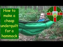 how to make mod a budget diy hammock underquilt underblanket