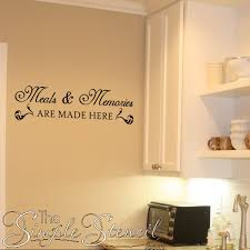 kitchen stencil ideas kitchen wall quotes words lettering decals stencils stickers