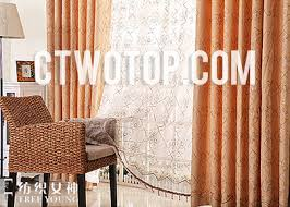 Orange Patterned Curtains Sequin Custom Thermal Patterned Chic Hotel Curtains