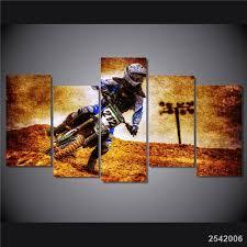 chambre de d馗ompression hd imprimé motocross image peinture sur toile chambre décoration d