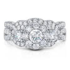 Diamond Wedding Ring Sets by 1 96 Ct Tw Diamond Wedding Ring Set In 14k White Gold I I1