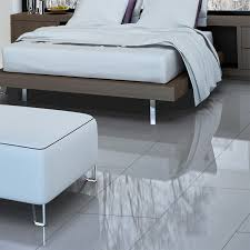 Grey Tile Laminate Flooring Falquon High Gloss 8mm Grey Tile High Gloss Flooring Leader Floors