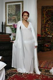 Bridal Honeymoon Nightwear Rayon Wrap Lounge Robe Bridal Cruise Honeymoon Spa Lingerie