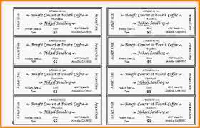 printable tickets templates template examples