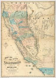 California Maps Map Of The State Of California David Rumsey Historical Map