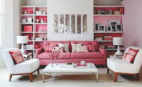 interior decoration feminine living space with small pink sofa interior decoration feminine living space with small pink sofa near round white ottoman also white