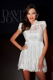 miranda kerr steps out in little white dress for after party
