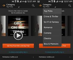 audible for android how to listen to audio books android ubergizmo