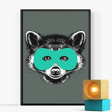 superhero raccoon childrens print by of life u0026 lemons
