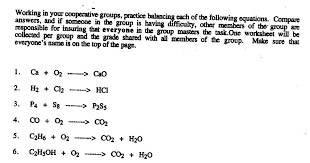 chemical equations and reactions worksheet free worksheets library