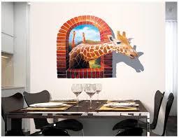 home decor giraffe decorative removable 3d giraffe wall stickers window creative giant