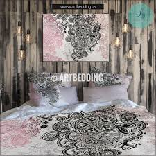 Gold Bedding Sets Boho Bedding Pink And Black Bedding Gold Metallic Foil
