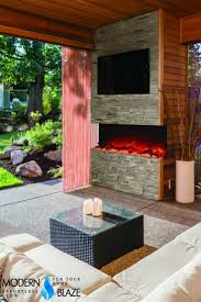 20 ways to electric outdoor fireplace