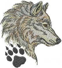 wolf embroidery design from machine embroidery designs