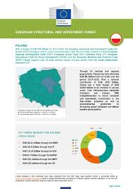 erdf si e social european structural and investment funds country factsheet poland