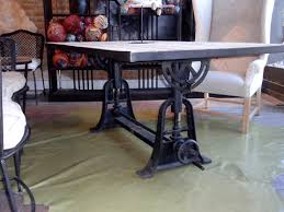 industrial kitchen table furniture vintage industrial wood dining table hudson goods