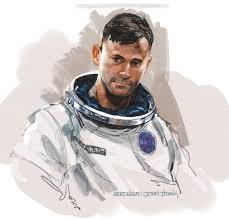 dan milligan illustration ltd art blog astronaut sketch
