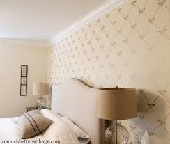 bee utiful stencilled wall so much better with age