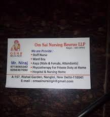 bureau om om sai nursing bureau shakurpur colony bureaus in delhi