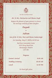sle of wedding programs sle invitation cards for marriage style by modernstork