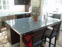 Modern Kitchen Island Glass Brooks Custom Kitchen Countertop Gallery