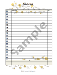 wedding day planner eryn wedding planner sheets denison ridge weddings events