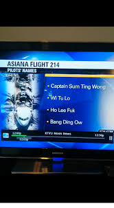 Sum Ting Wong Meme - asiana flight 214 pilots names captain sum ting wong wi tu lo ho lee